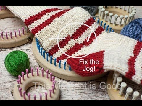 Fix The Jog When Knitting In The Round Loom Knitting Youtube