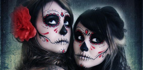 Makeup day of the dead halloween ideas pinterest t te de mort tete de et en t te - Maquillage mexicain facile ...