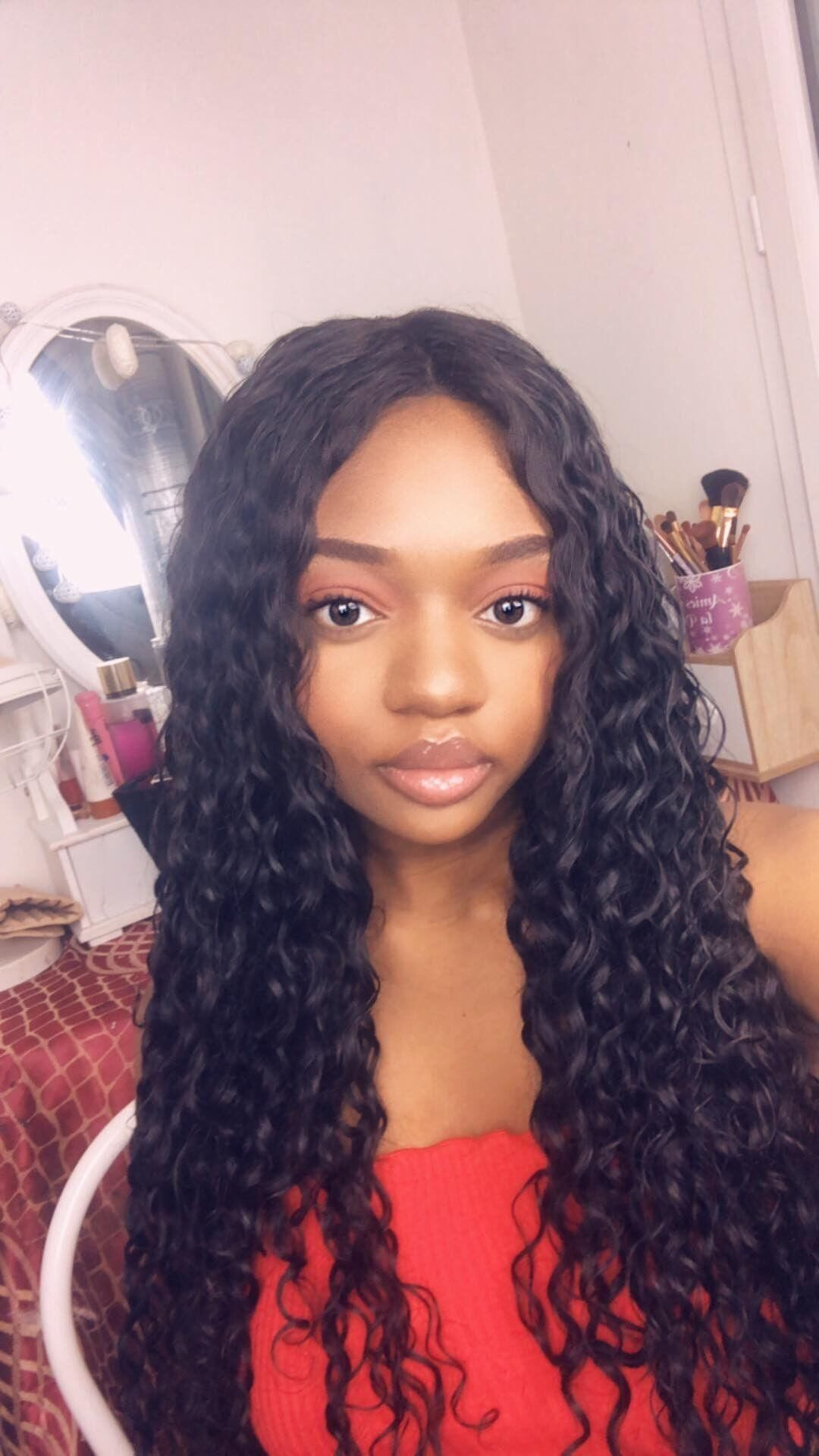 Fashion Style Alipearl Brazilian Deep Wave 4 Bundles With Frontal Closure Human Hair Bundles With Closure Remy Hair Extension Natural Color Hair Extensions & Wigs