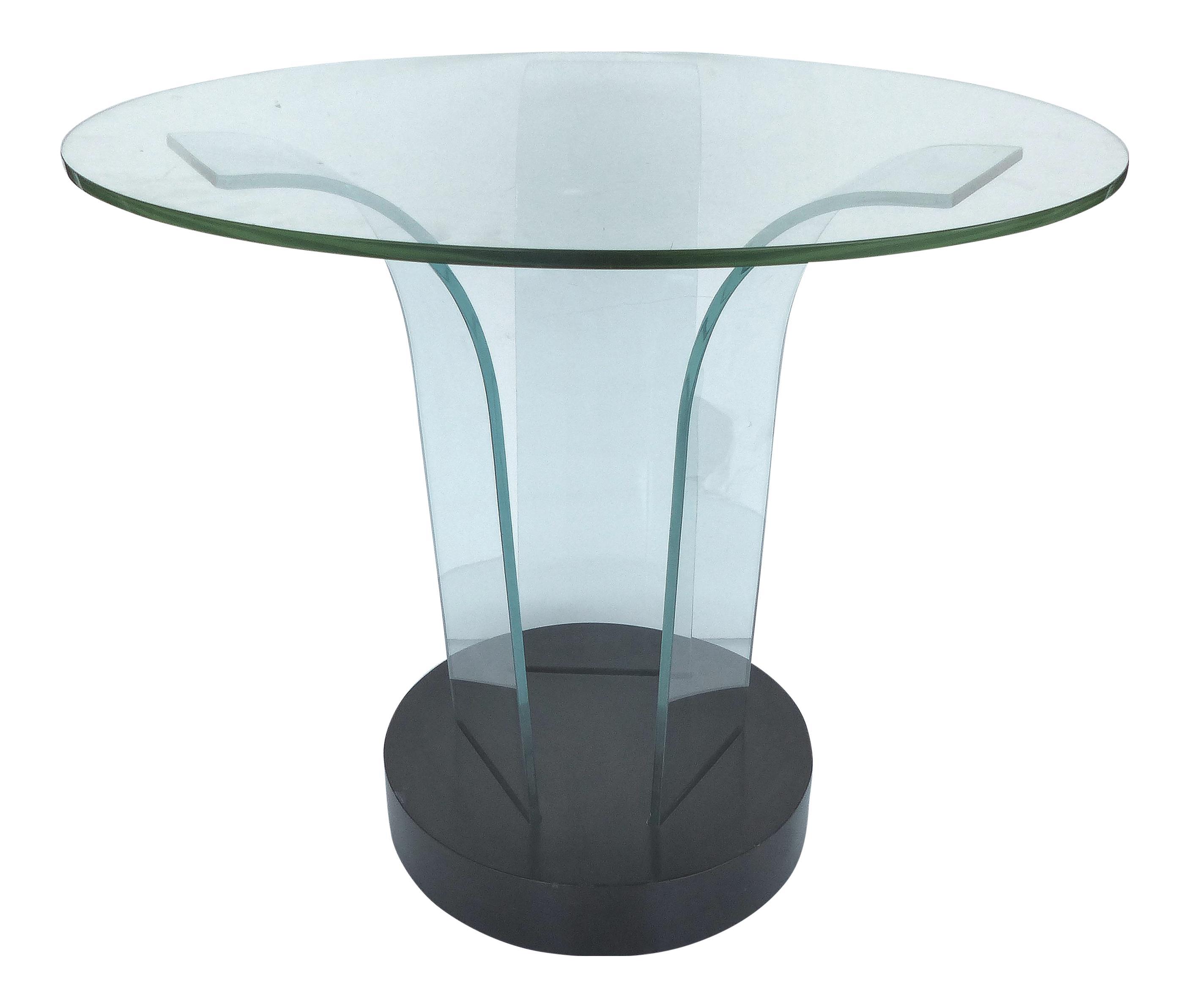 Incredible Mid Century Modern Modernage Bent Glass Side Table Mid Short Links Chair Design For Home Short Linksinfo