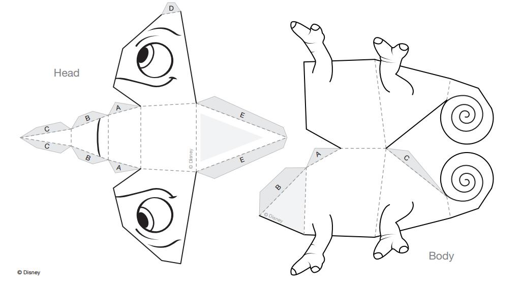 Festa enrolados - Camaleão Pascoal em 3D - Dicas pra Mamãe