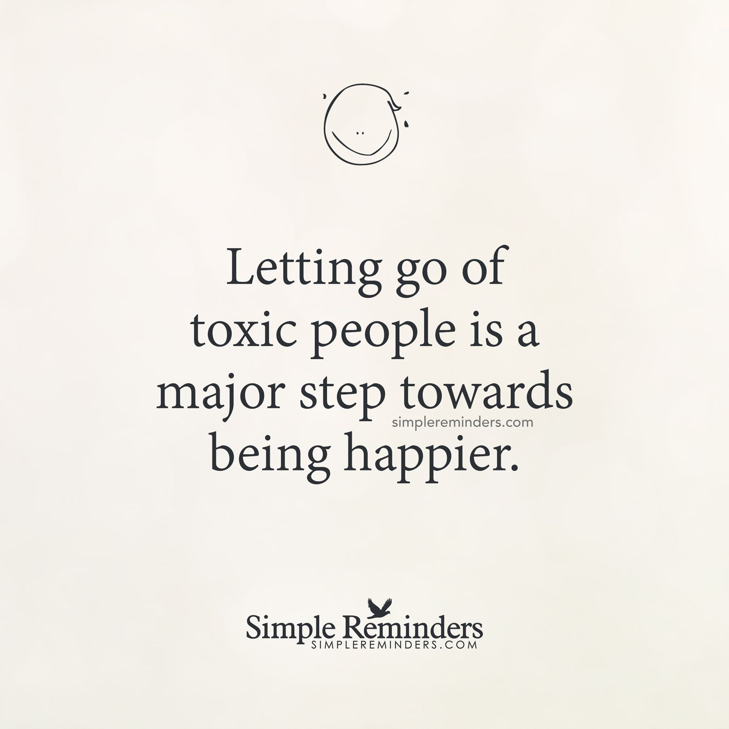 Letting go of someone toxic