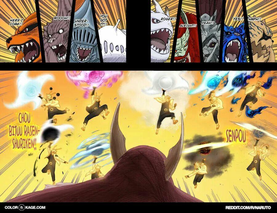Kurama, Gyuki, Chomei, Saiken, Kokuo, Son Goku, Isobu