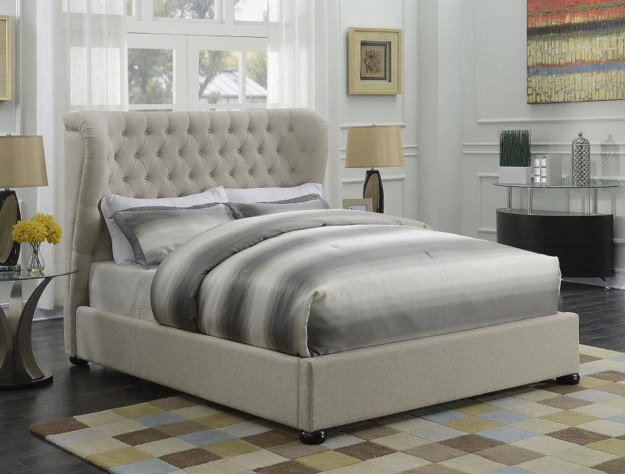 Newburgh Beige Full Size Bed 300744F Savvy Discount