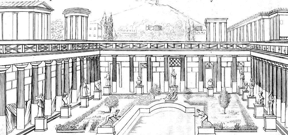 afbeeldingsresultaat voor romeinse villa tekening