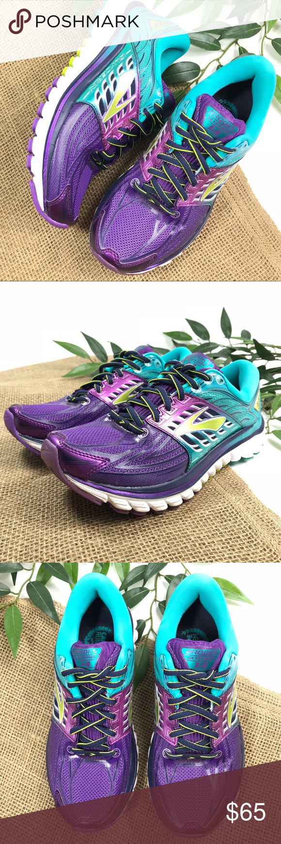 aec1f9e0ee8 Women s Brooks Glycerin 14 Purple Teal Carpe Runem  Brooks  Glycerin 14  Running Tennis Shoe 6 Carpe Runem new without box. These are Brooks brand  running ...