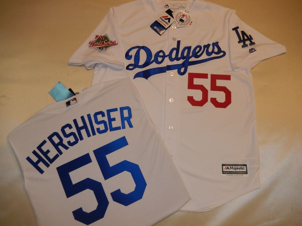 52727e206fa 7814 Los Angeles Dodgers OREL HERSHISER 1988 WORLD SERIES Baseball JERSEY  New  Majestic  LosAngelesDodgers SIZE SMALL