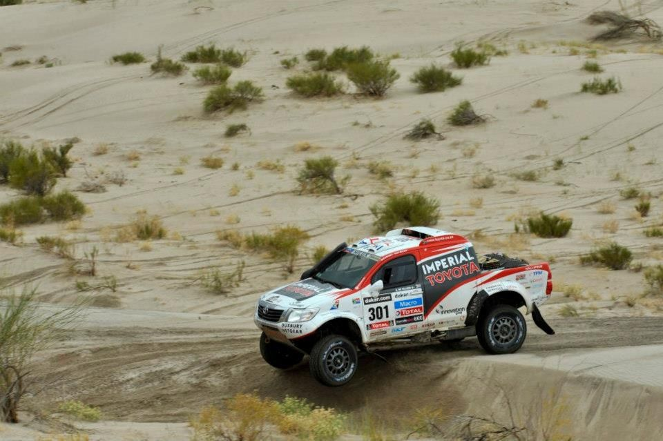 Stage 11 La Rioja Fiambala Toyota Hilux Toy Car Paris Dakar