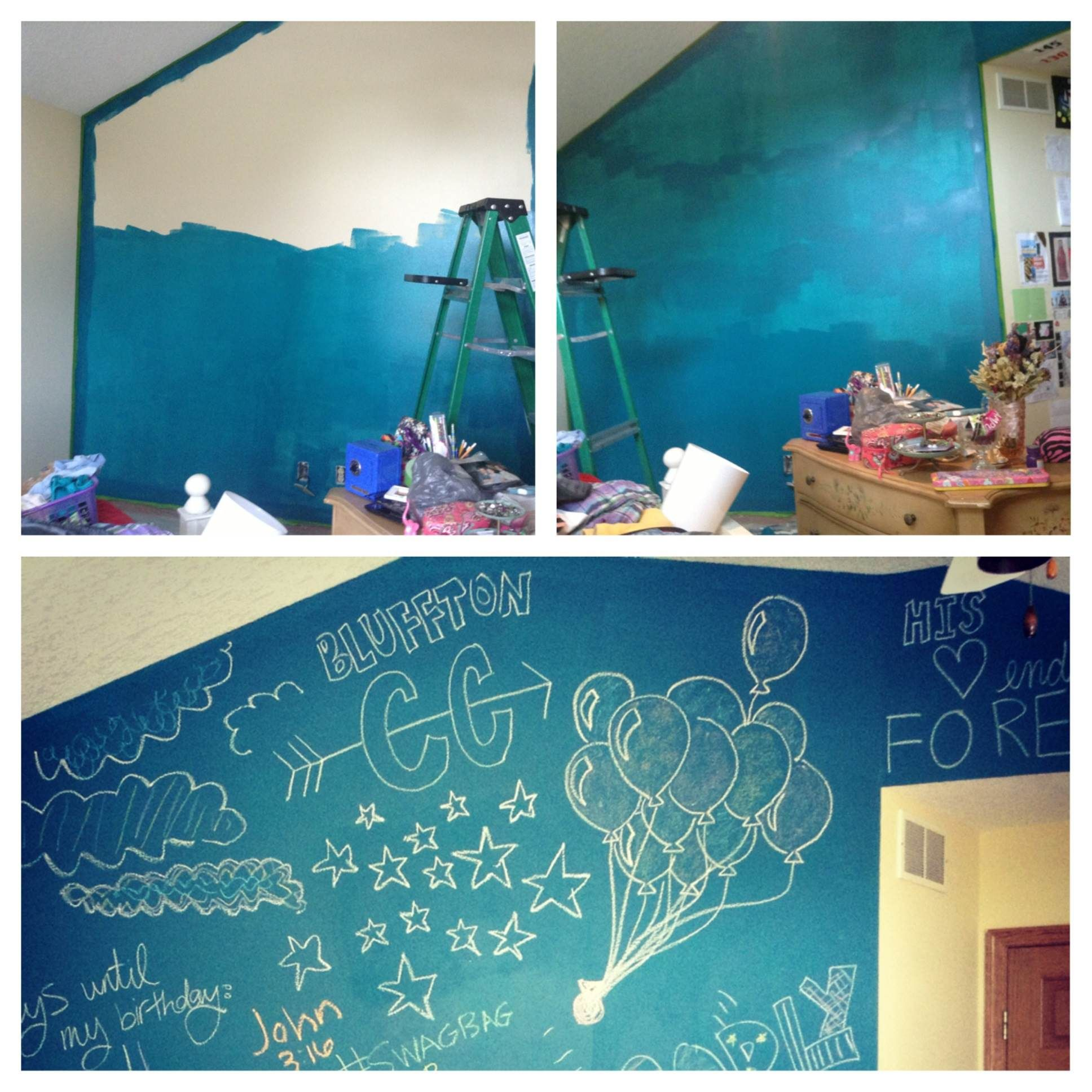 Chalkboard Paint Wall Wall Paint Colors Chalkboard Wall
