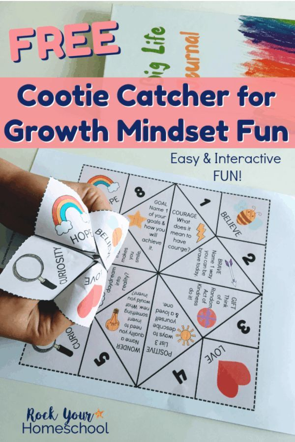 Growth Mindset Fun with this Free Cootie Catcher