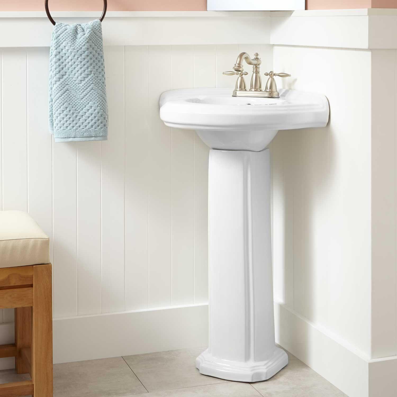 pedestal sink or vanity in small bathroom%0A Corner Pedestal Sinks For Small Bathrooms