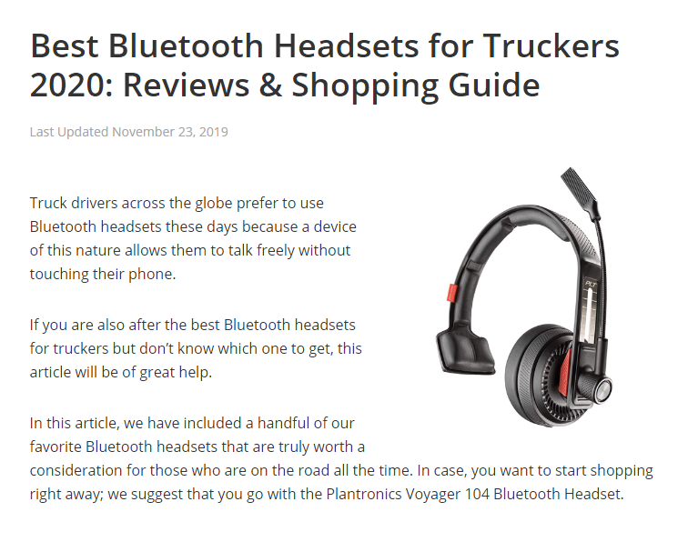 Best Bluetooth Headsets For Truckers 2020 Reviews Shopping Guide Bluetooth Headset Headsets Bluetooth Earpiece