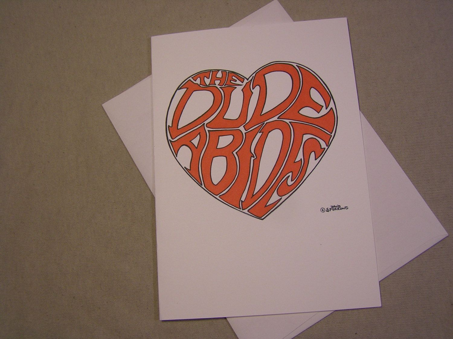 The Big Lebowski All Occasion Greeting Card The Dude Abides