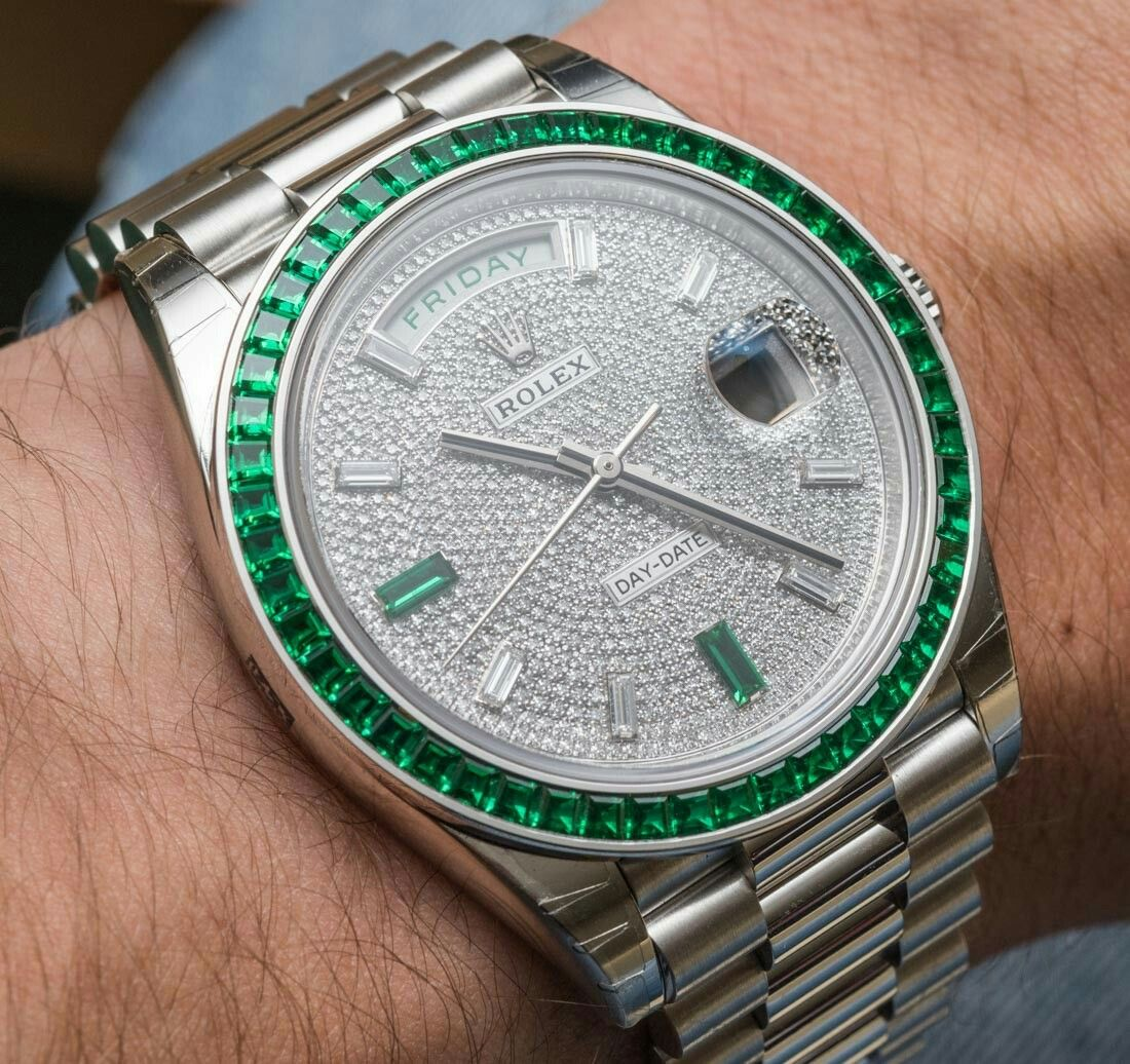 Rolex Day-Date 40 Green Emerald Reference 228396TEM