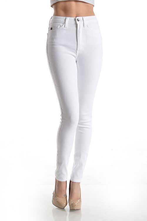 Kancan Jeans High Rise White Skinny Jeans for Women KC1509 | Denim ...