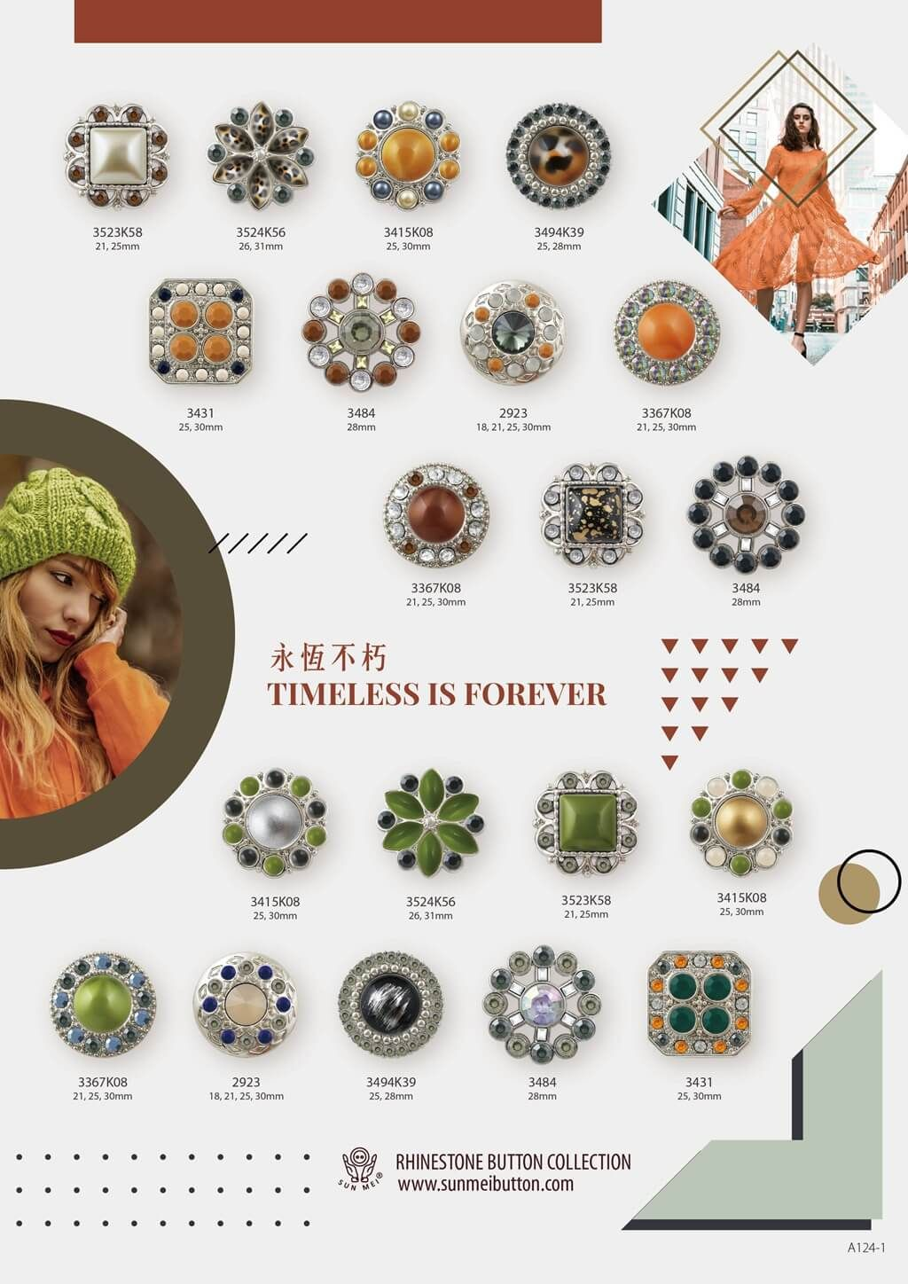 Top picks from the color trends for autumn winter 2020. With our selection including Timeless if Forever, Free Spirit and Autumn Feelings, here's some fashion color 2020 inspiration.  #aw2020 #AW2020 #autumncolors #fashioncolors #wintercolors #colortrend2020 #2020fwcolortrend #2020fashioncolor #garmentaccessories #rhinestones #rhinestonebuttons #buttons #fashiondesign #bling #shinny #crystalcomponent #garment #accessory