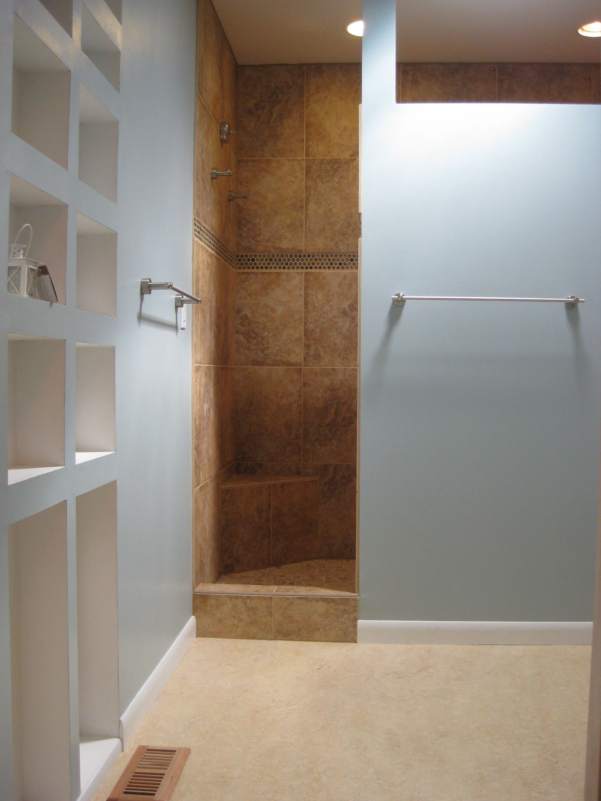 large walk in showers without doors. Walk In Tile Showers without Doors A general idea for adding the wall  For Greed Pinterest