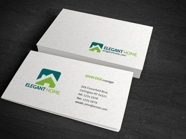 Simple Business Card Texture Design; Same color scheme, too ...