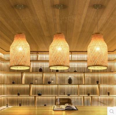 Sudostasiatischen Chinesischen Antiken Tee Bambus Rattan Lampe