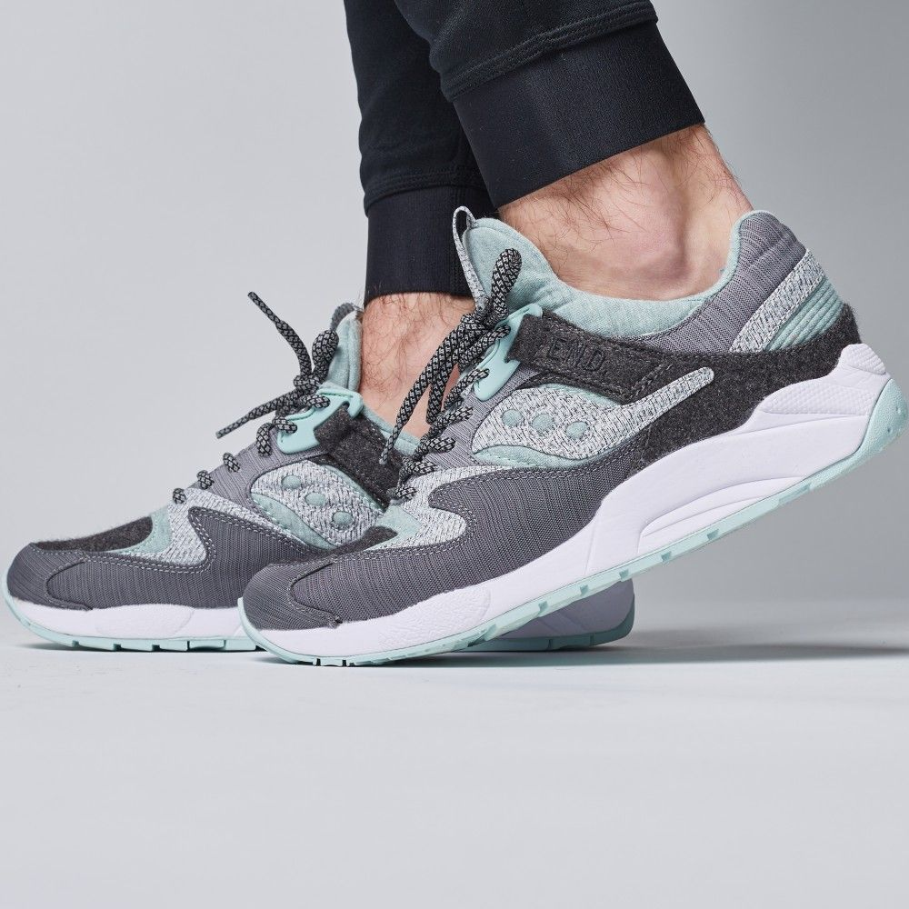 36f5c1ce62b8 END. x Saucony Grid 9000  White Noise  (Grey   White)