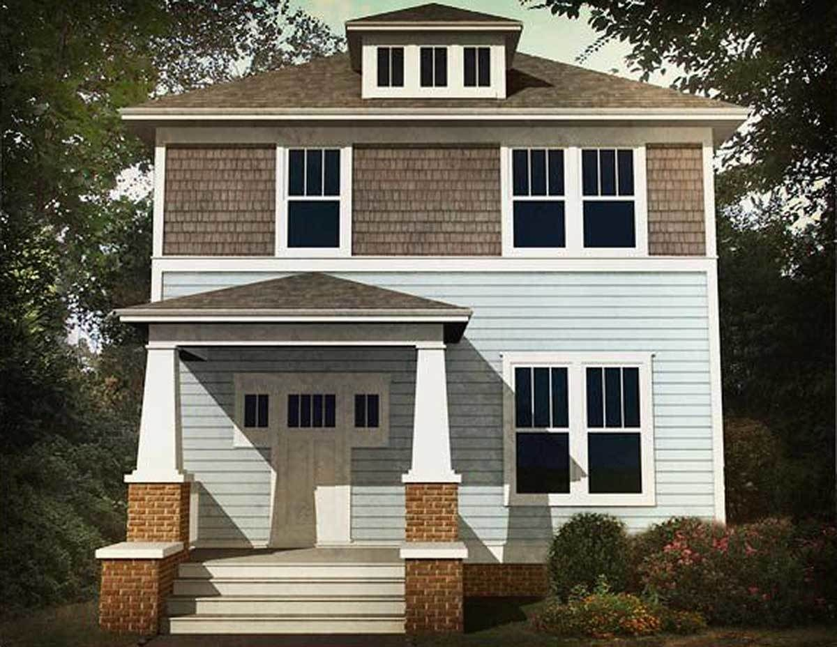 Plan 50130PH Classic Three Bed Four Square House