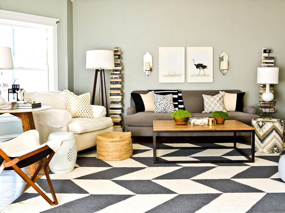 Bright C Chevron Rug Fashion Chicago Contemporary Living Room Inspiration With Area Black And White Candles Cream Throw Pillow