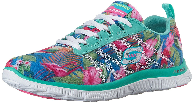 Sneaker Flex Bloom Skechers Low Donna Top Floral Appeal 67qgnR