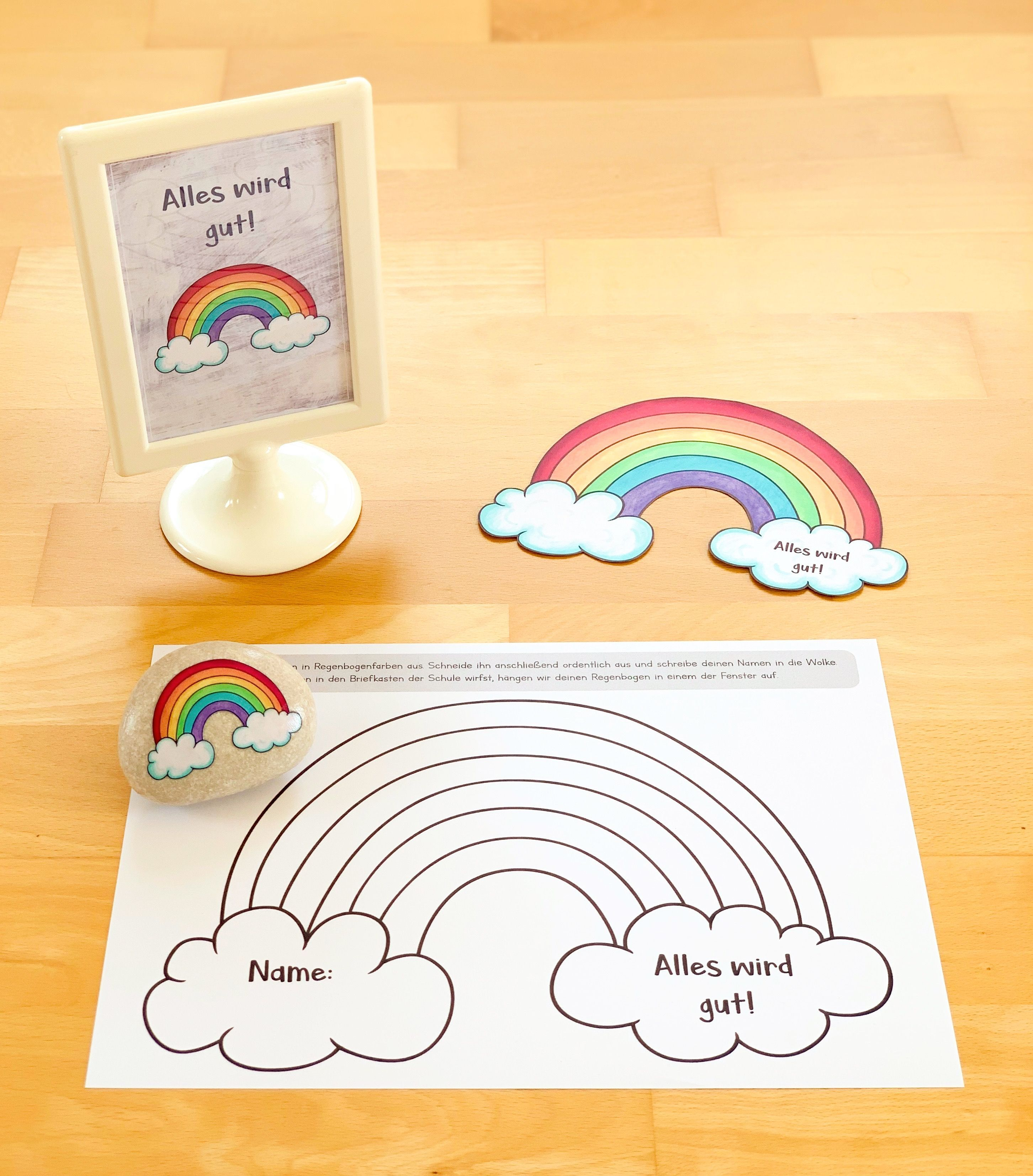 Alles Wird Gut Regenbogen Gegen Corona Teacher Appreciation Cards Teacher Thank You Cards Teachers Day Card