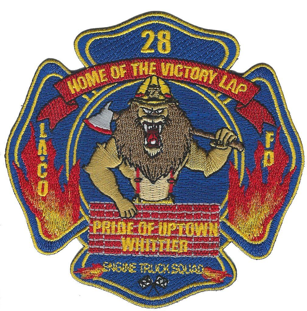 Laco Fire Dept 28 Home Of The Victory Lap Lion Fire Patch In 2020 Fire Badge Volunteer Firefighter Patches