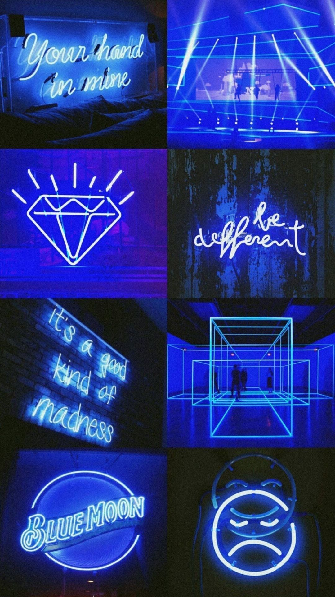Aesthetic Dark Blue Wallpaper Android In 2020 Dark Blue Wallpaper Neon Wallpaper Blue Wallpaper Iphone