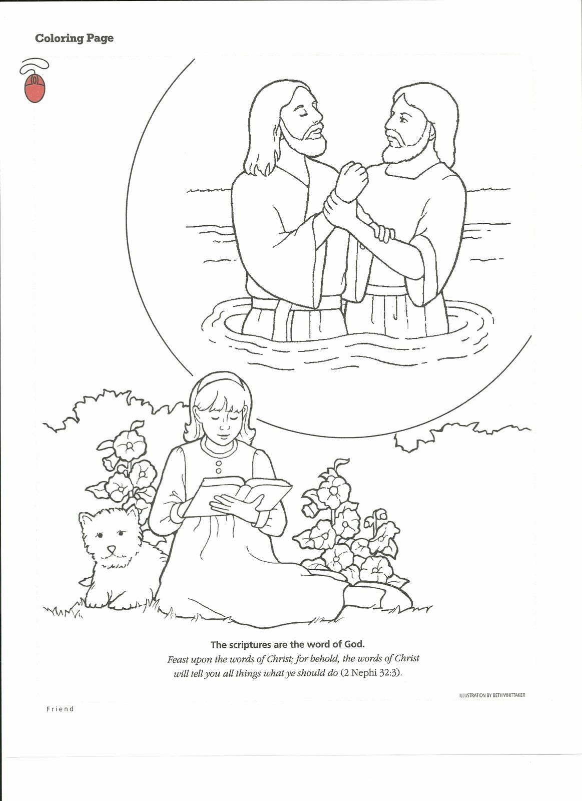 28 Lds Baptism Coloring Page In With Images