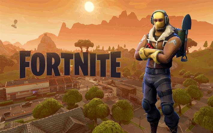 Download Wallpapers Raptor Fortnite Battle Royale 2018 Games