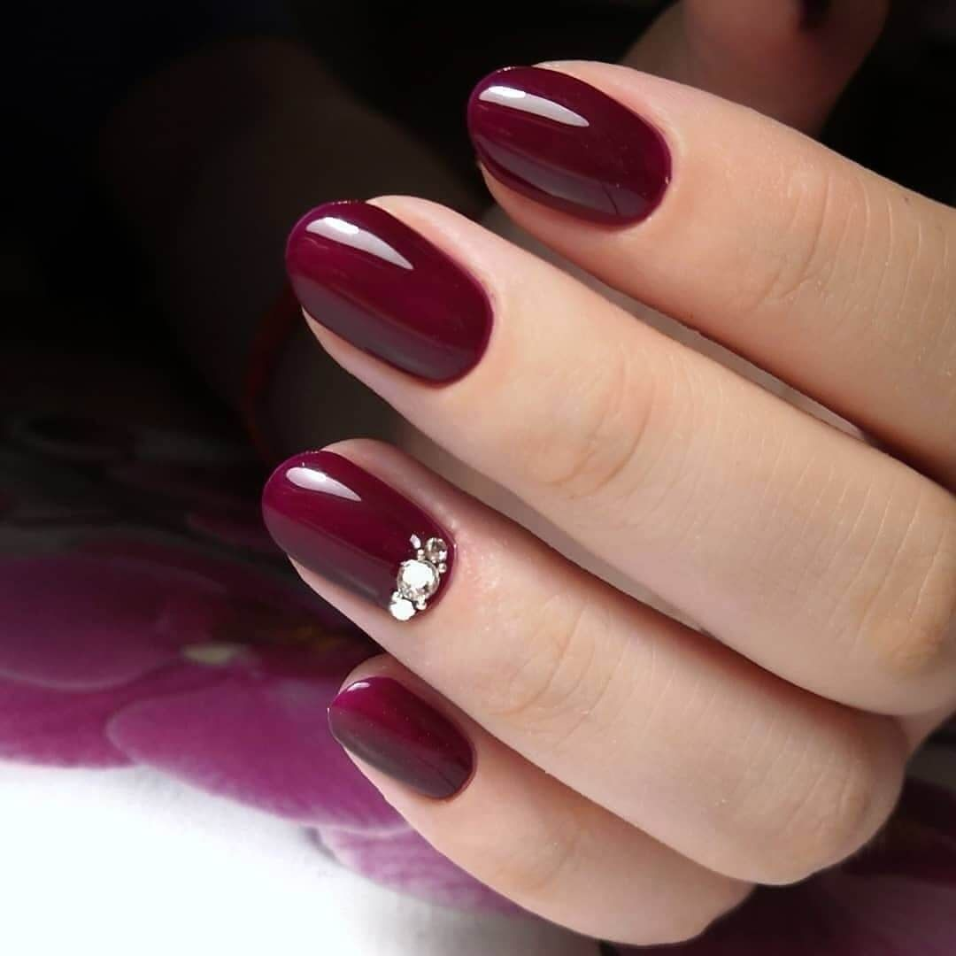 50 Newest Burgundy Nails Designs You Should Definitely Try In 2020 Wine Nails Nails Short Nail Manicure