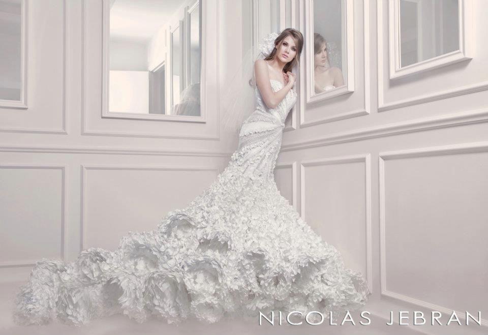 Amazing wedding dress by Lebanese designer Nicolas Jebran | wow ...