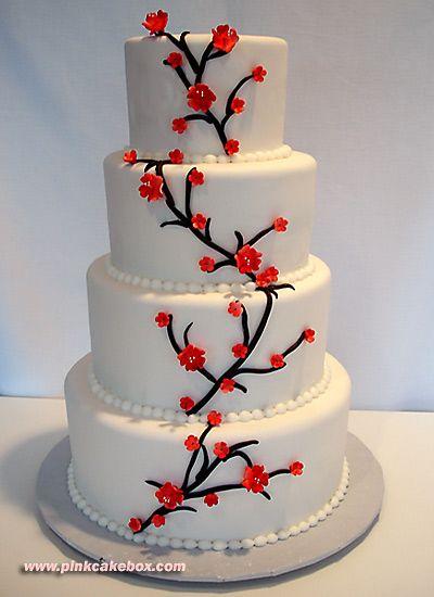 Cherry Blossom Wedding Cakes Spring Wedding Cakes Cherry - Fudge Wedding Cake
