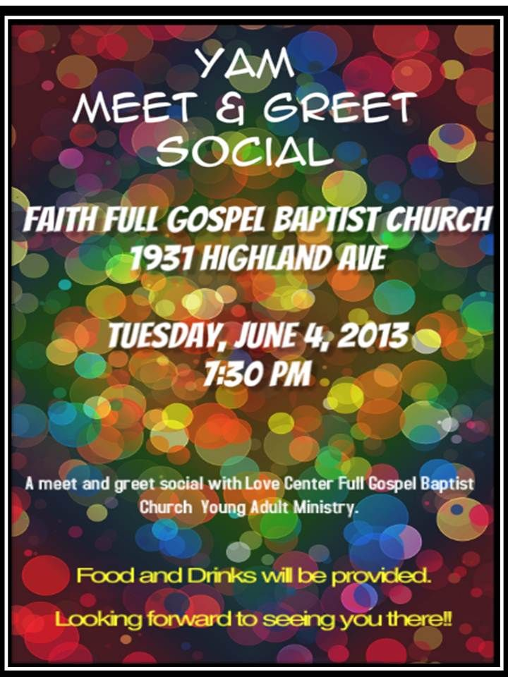 Meet and greet social flyer done for young adult ministry at my meet and greet social flyer done for young adult ministry at my church faith full m4hsunfo