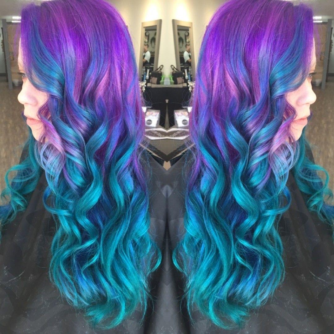 Purple Blue Colorful Mermaid Unicorn Teals Done By Kristina