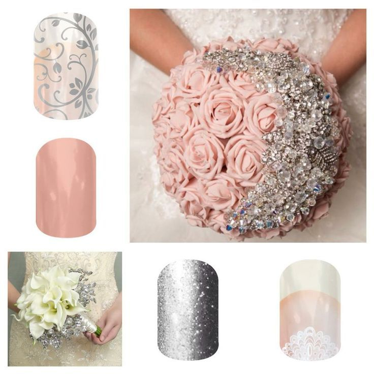 WEDDING NAILS! Beautiful Blushing bride Manicure pedicure so quick ...