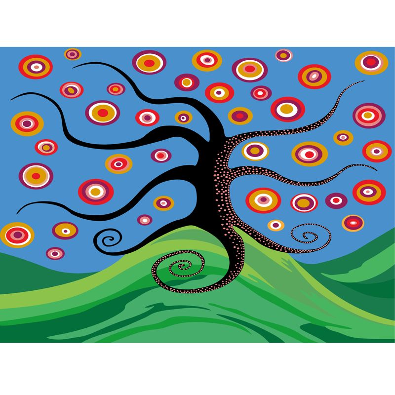 Urijk 1PC DIY Canvas Oil Painting By Numbers Frameless Abstract Life Tree Wall Pictures For Living Room Creative Home Decor #Affiliate