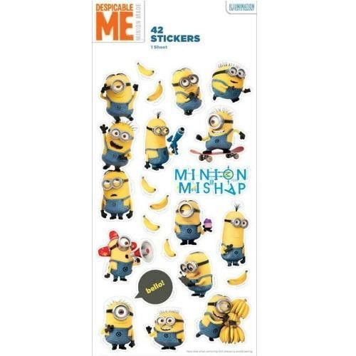 These cheeky holographic minion stickers are perfect as prizes, party bag or pinata fillers. Contains: 1sheet with 42 stickers