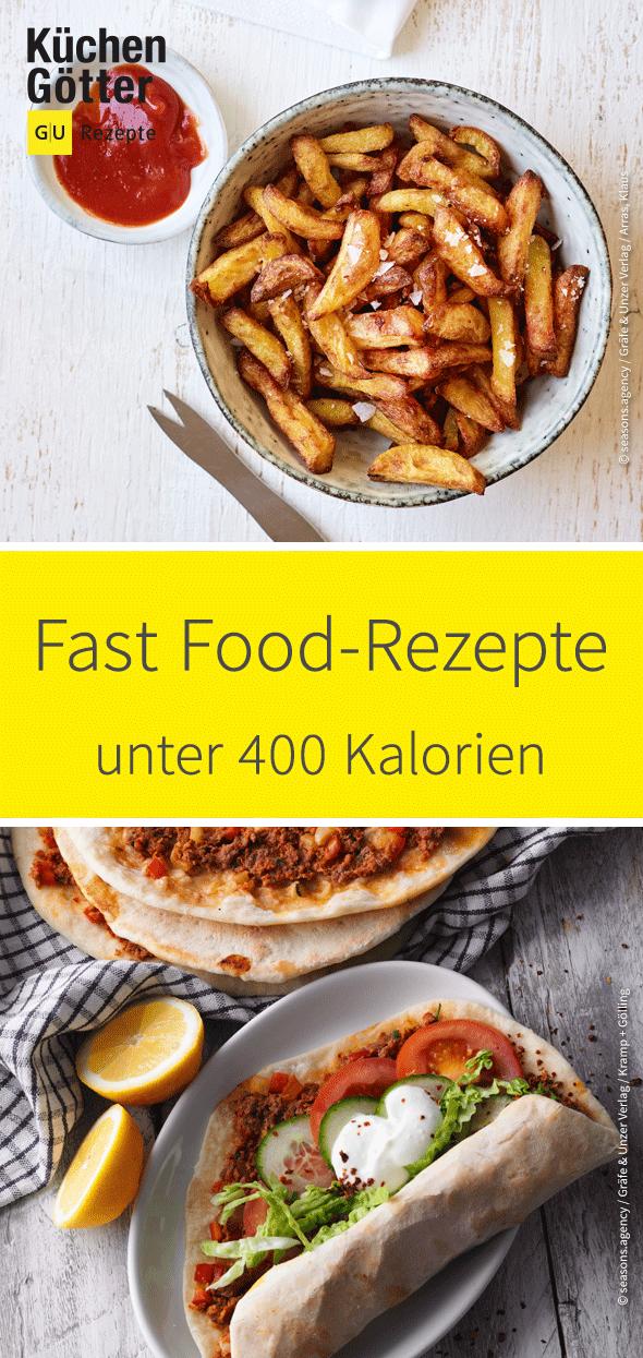 Von Kebap über Burger und Pommes bis hin zu Chicken Nuggets - wir zeigen dir leckere Fast Food-Rezepte mit weniger als 400 Kalorien. #workoutfood