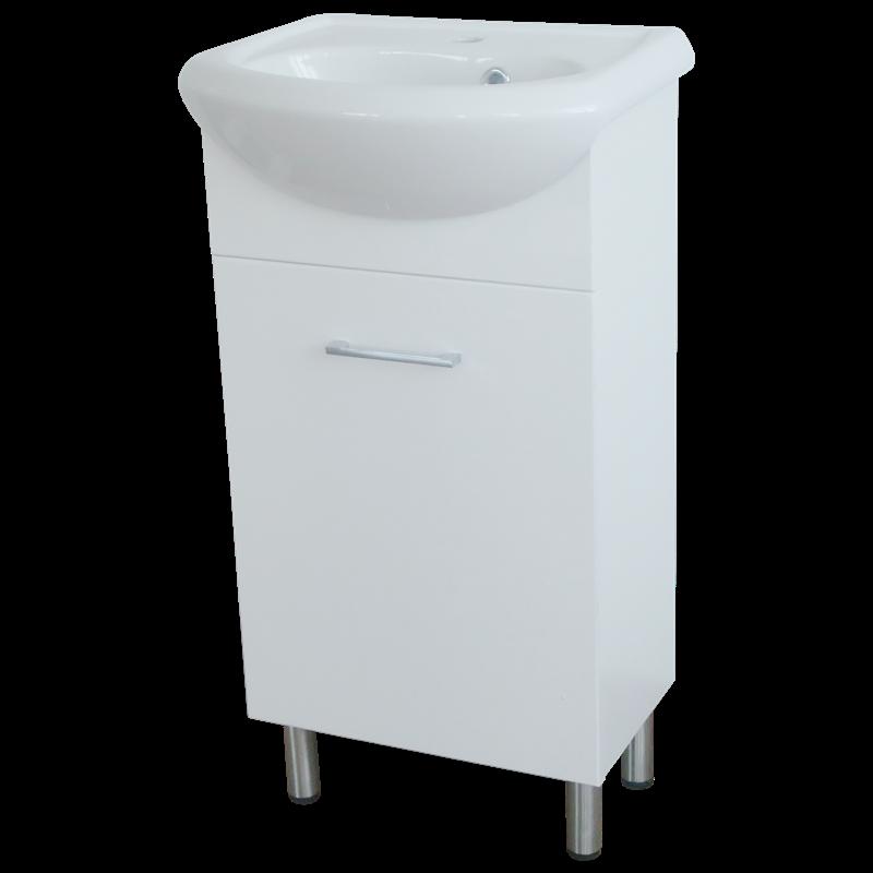 Estilo 450 X 350 X 860mm Semi Recessed Freestanding Vanity Set Vanity Set Add A Bathroom Vanity