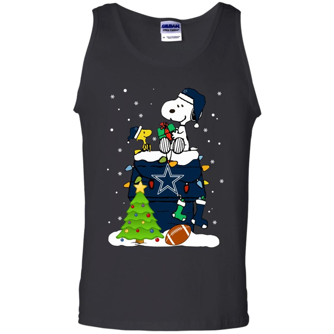 Merry Christmas Nfl 2020 Snoopy Merry Christmas NFL Cowboys Men's Tank Top | Violette