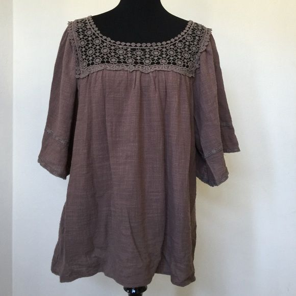 Anthropologie - Entro -New w/crotchet-like details Anthropologie - Entro - Size M- New w/crotchet-like details- Never used, w/o tag Anthropologie Tops