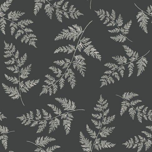 Wallpaper Fern Print Gray Hearth & Hand™ with Magnolia