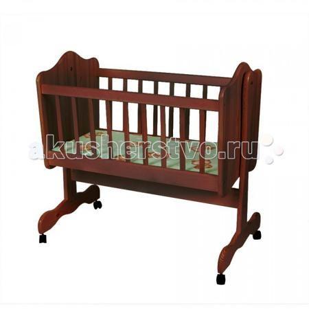 Счастливый малыш без матраса  — 5400р. -------------------------  Колыбель Счастливый малыш без матраса из натурального массива дерева.  Особенности: Для детей с рождения до 6 месяцев; Кроватка изготовлена из березы; Защитные силиконовые накладки на обоих боковых ограждениях; Отсутствуют острые углы; Маятник поперечного качания; Есть колесики для удобного передвижения по комнате.