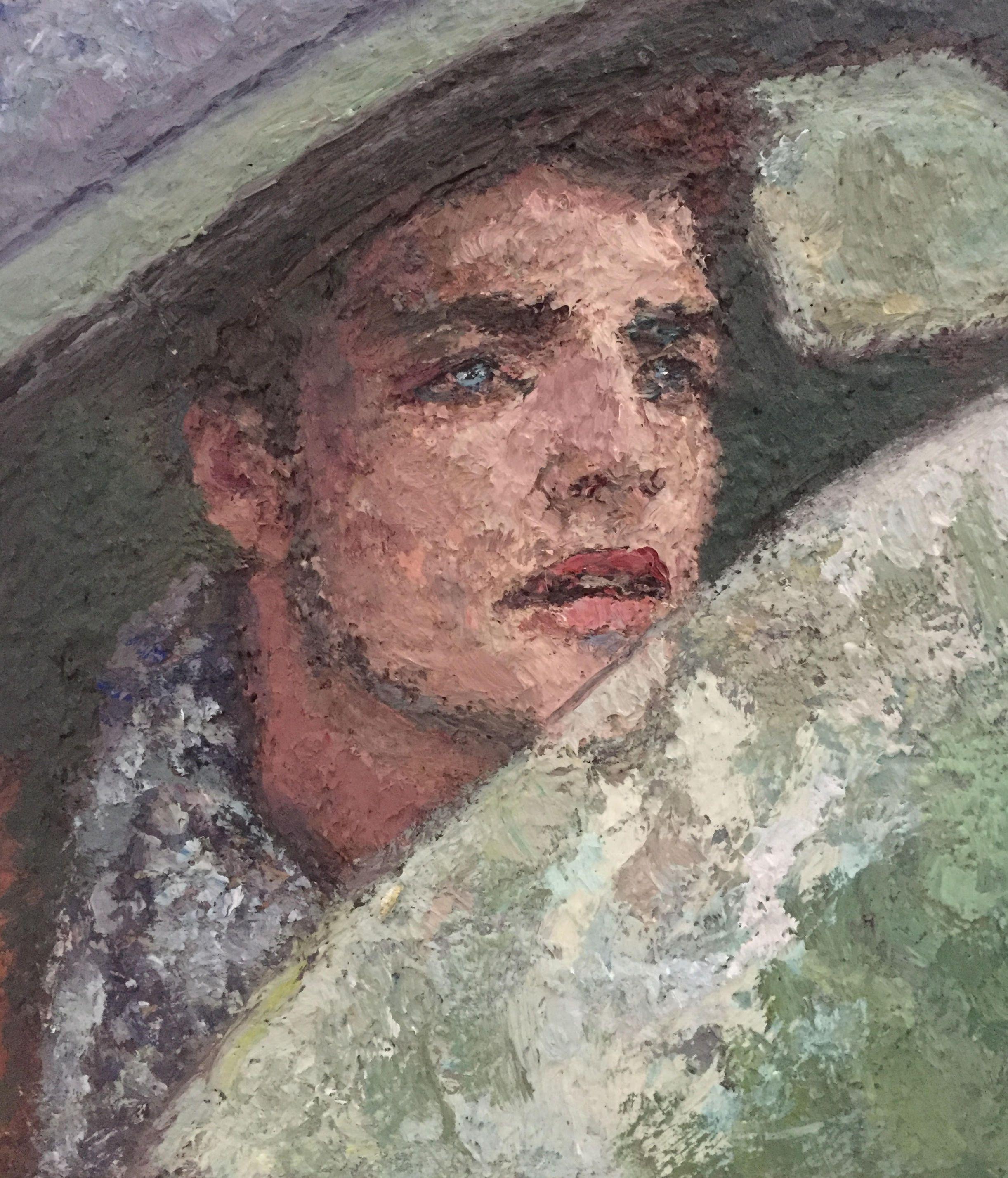 Yisrael Dror Hemed, Side Window, 2015, reworked 2016, Oil on canvas, 40x30 cm
