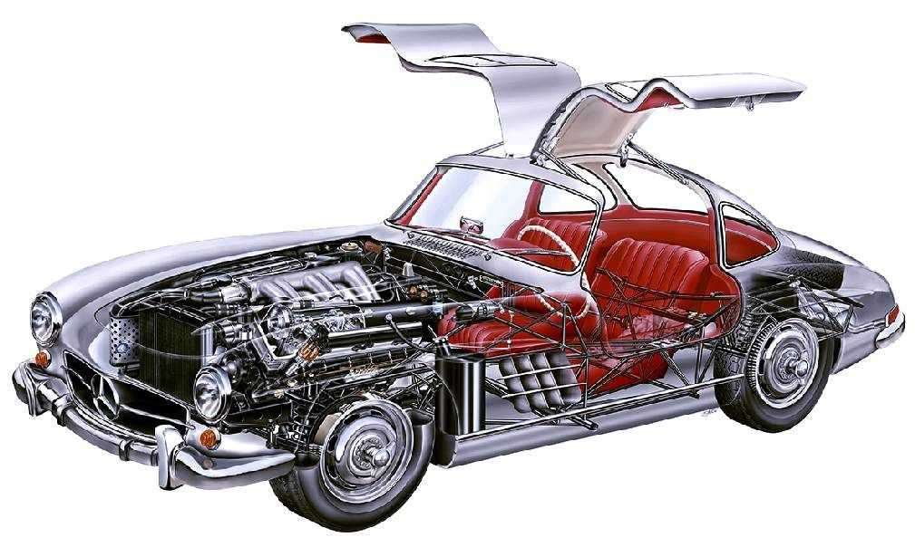 MERCEDES BENZ 300 SL GULL WING DOORS COUPE RESTORATION ...