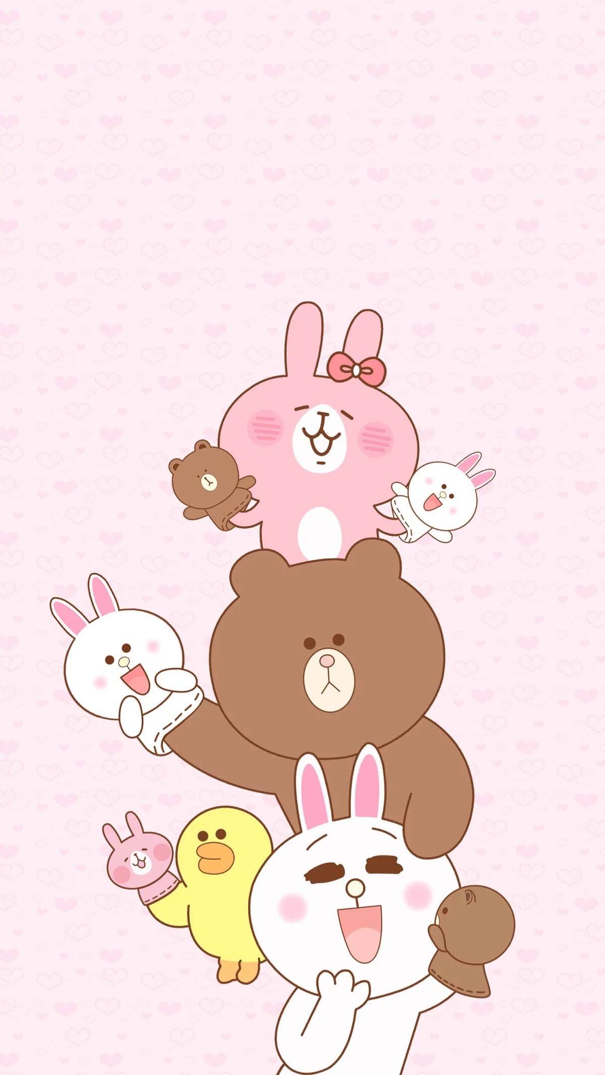 Cute Teddy Bears Wallpapers Hd Pin Oleh Pankeawป่านแก้ว Di Wallpaper Line Wallpaper