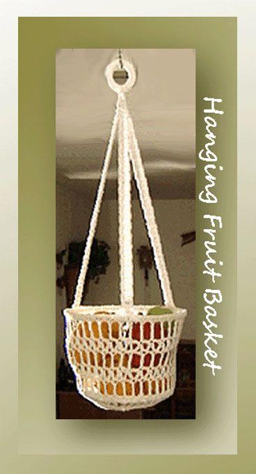 Hanging Fruit Basket, free crochet pattern on Crochet ...